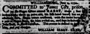 Jun 7 - Virginia Gazette Purdie and Dixon Slavery 3