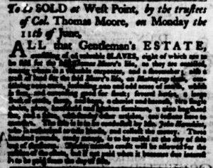 Jun 7 - Virginia Gazette Purdie and Dixon Slavery 5