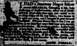 Jun 7 - Virginia Gazette Purdie and Dixon Slavery 6