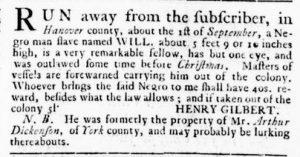 Jun 7 - Virginia Gazette Rind Slavery 2