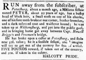 Jun 7 - Virginia Gazette Rind Slavery 3