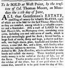 Jun 7 - Virginia Gazette Rind Slavery 5