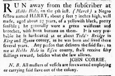 Jun 7 - Virginia Gazette Rind Slavery 8