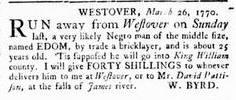 Jun 7 - Virginia Gazette Rind Slavery 9