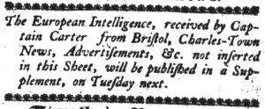 Nov 12 - 11:9:1769 South-Carolina Gazette