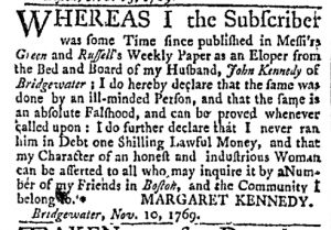 Nov 13 - 11:13:1769 Massachusetts Gazette and Boston Post-Boy