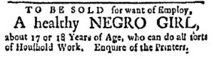 Nov 13 - Boston Evening-Post Slavery 1