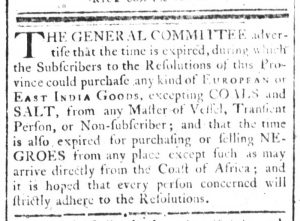 Nov 14 - South-Carolina and American General Gazette Slavery 1
