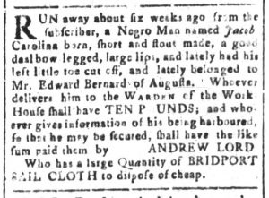 Nov 14 - South-Carolina and American General Gazette Slavery 2