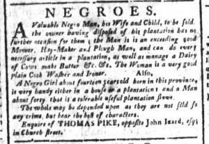 Nov 14 - South-Carolina and American General Gazette Slavery 4