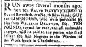 Nov 14 - South-Carolina and American General Gazette Slavery 8