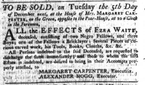 Nov 16 - South-Carolina Gazette Slavery 8
