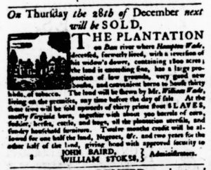 Nov 16 - Virginia Gazette Purdie and Dixon Slavery 11