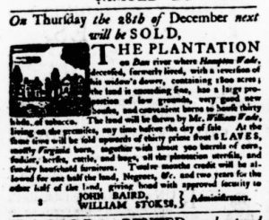 Nov 16 - Virginia Gazette Purdie and Dixon Slavery 12