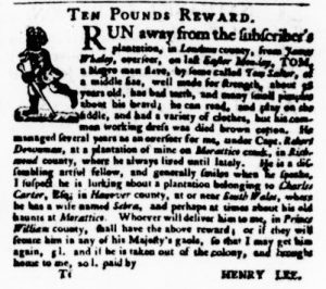 Nov 16 - Virginia Gazette Purdie and Dixon Slavery 18