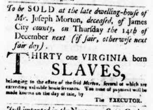 Nov 16 - Virginia Gazette Purdie and Dixon Slavery 3