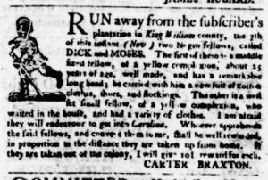 Nov 16 - Virginia Gazette Purdie and Dixon Slavery 4