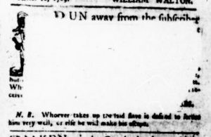 Nov 16 - Virginia Gazette Purdie and Dixon Slavery 8