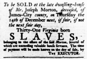 Nov 16 - Virginia Gazette Rind Slavery 3