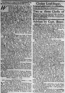 Nov 17 - 11:17:1769 Massachusetts Gazette Extraordinary