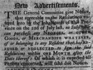 Nov 19 - 11:16:1769 Advert 1 South-Carolina Gazette
