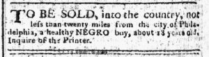 Nov 20 - Pennsylvania Chronicle Slavery 2
