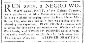 Nov 20 - South-Carolina and American General Gazette Slavery 3