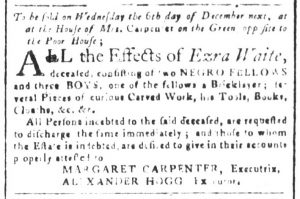 Nov 20 - South-Carolina and American General Gazette Slavery 4