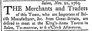 Nov 21 - 11:21:1769 Essex Gazette