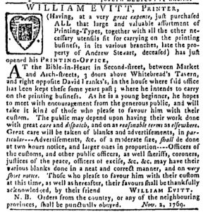 Nov 23 - 11:23:1769 Pennsylvania Gazette