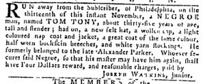 Nov 23 - Pennsylvania Gazette Slavery 1