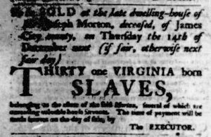 Nov 23 - Virginia Gazette Purdie and Dixon Slavery 5