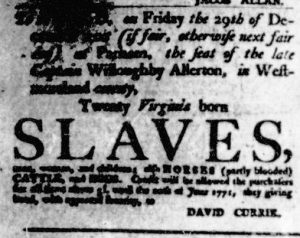 Nov 23 - Virginia Gazette Purdie and Dixon Slavery 6