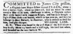 Nov 23 - Virginia Gazette Purdie and Dixon Slavery 7