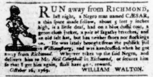 Nov 23 - Virginia Gazette Purdie and Dixon Slavery 8