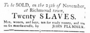 Nov 23 - Virginia Gazette Rind Slavery 10