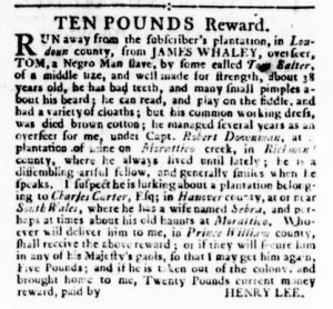 Nov 23 - Virginia Gazette Rind Slavery 14