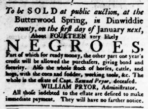 Nov 23 - Virginia Gazette Rind Slavery 8
