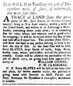 Nov 23 - Virginia Gazette Rind Slavery 9