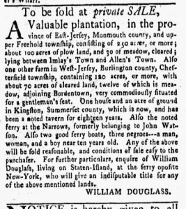 Nov 27 - New-York Gazette and Weekly Mercury Slavery 6