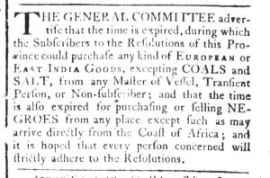 Nov 27 - South-Carolina and American General Gazette Slavery 5