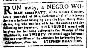 Nov 27 - South-Carolina and American General Gazette Slavery 9