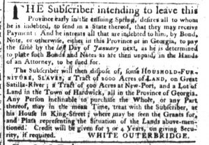 Nov 30 - South-Carolina Gazette Supplement Slavery 3