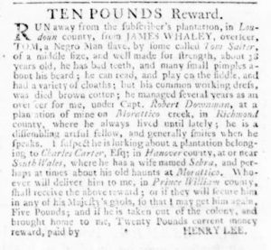 Nov 30 - Virginia Gazette Rind Slavery 9