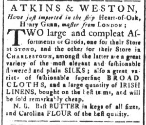 Nov 5 - 11:2:1769 South-Carolina and American General Gazette
