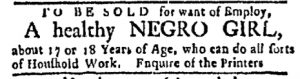 Nov 6 - Boston Evening-Post Slavery 2