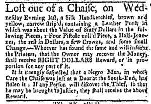 Nov 6 - Boston-Gazette Slavery 1