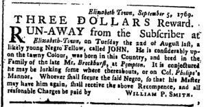 Nov 6 - New-York Gazette or Weekly Post-Boy Slavery 1