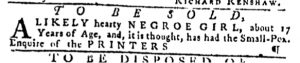 Nov 9 - Pennsylvania Gazette Slavery 1