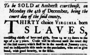 Nov 9 - Virginia Gazette Purdie and Dixon Slavery 10